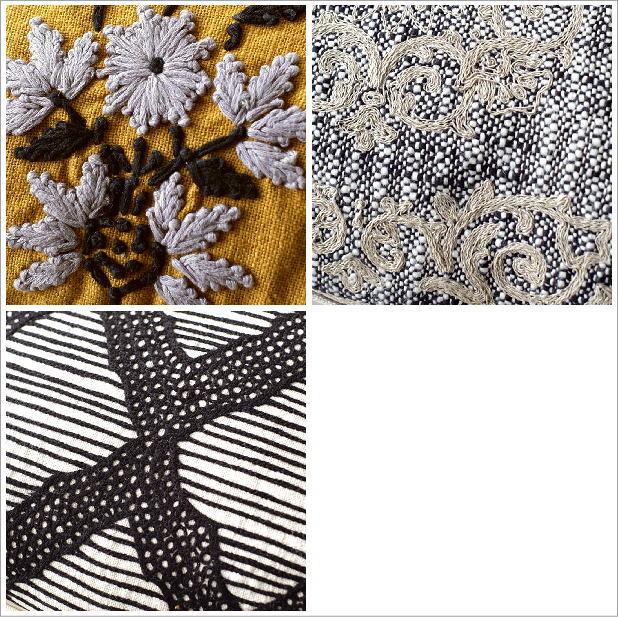 刺繍レクタングルクッション3タイプ(3)