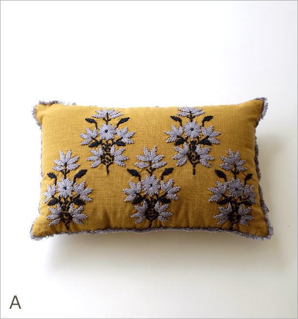 刺繍レクタングルクッション3タイプ(4)