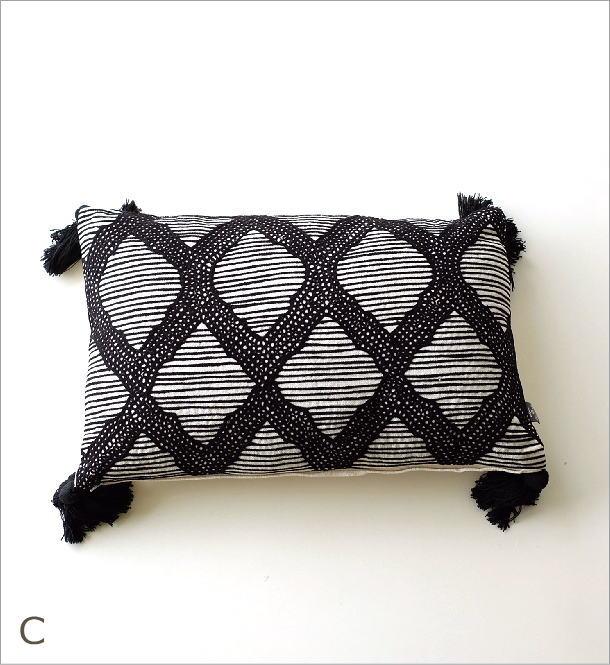刺繍レクタングルクッション3タイプ(6)