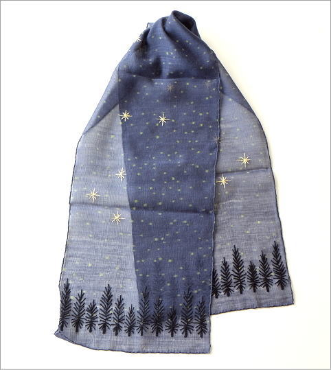 ウール&シルク星空ショール(2)