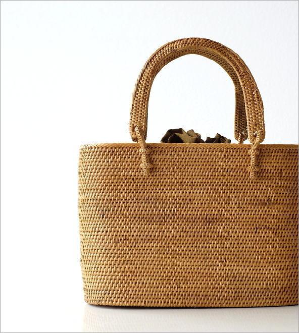 シンプル編みアタハンドルバッグ(1)