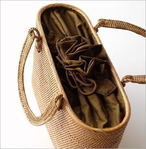 シンプル編みアタハンドルバッグ(2)