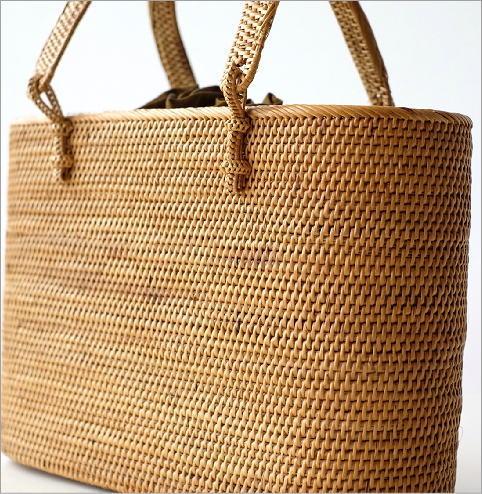シンプル編みアタハンドルバッグ(3)