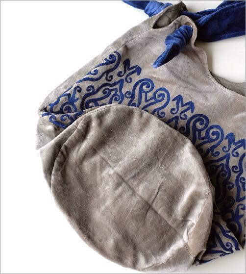 コットンベロア刺繍バッグ 2カラー(4)