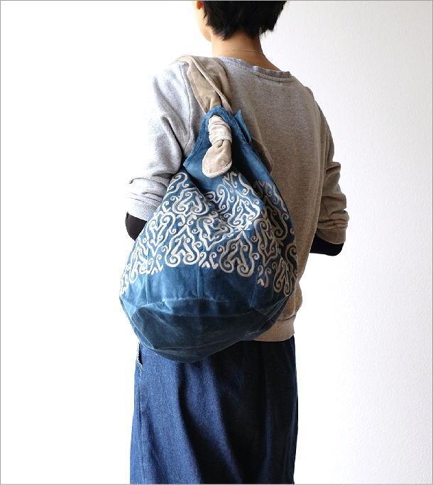 コットンベロア刺繍バッグ 2カラー(5)