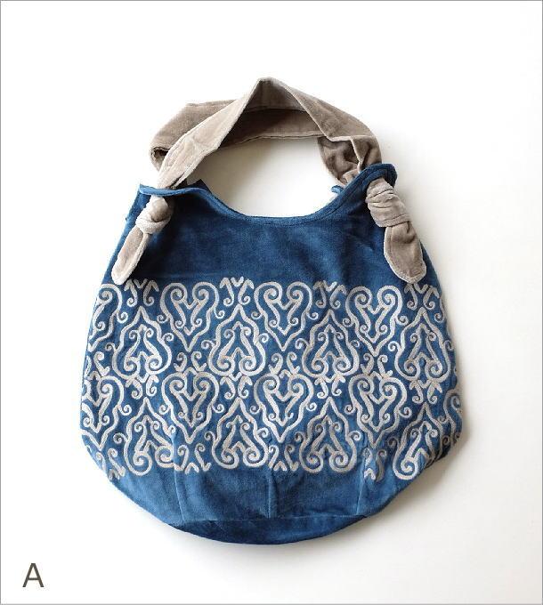 コットンベロア刺繍バッグ 2カラー(6)