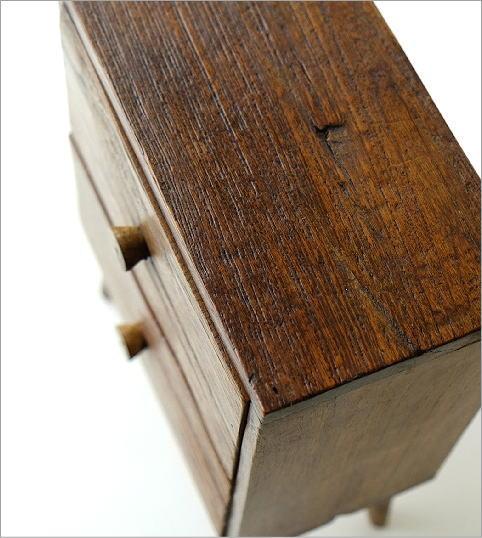 チーク引き出し2段ボックス(2)
