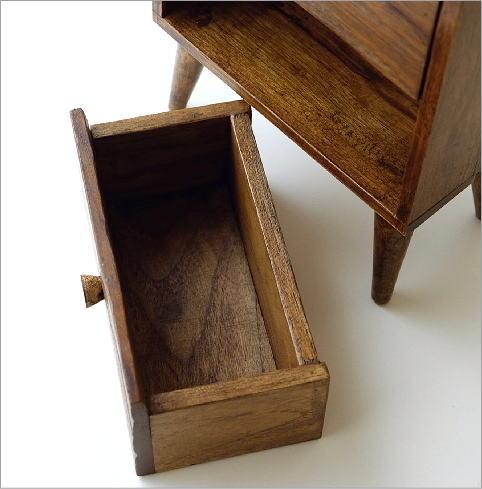 チーク引き出し2段ボックス(3)