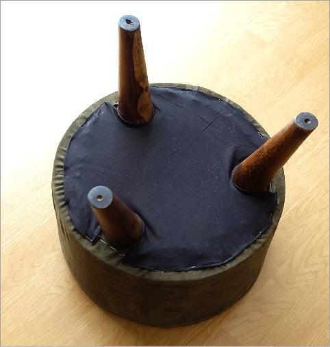 ウッド&レザーラウンドスツール 3タイプ(4)