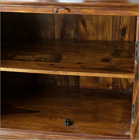 シーシャムウッド扉付きサイドボード(4)