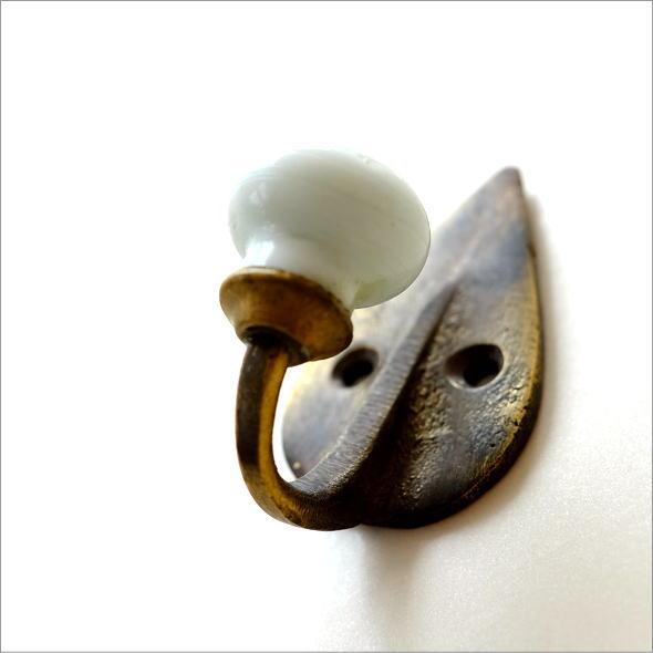 レトロな真鍮のフック A3個セット(2)