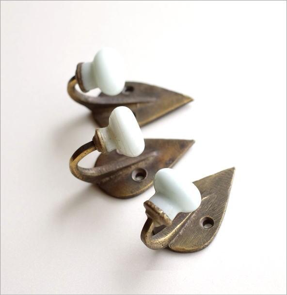 レトロな真鍮のフック A3個セット(3)