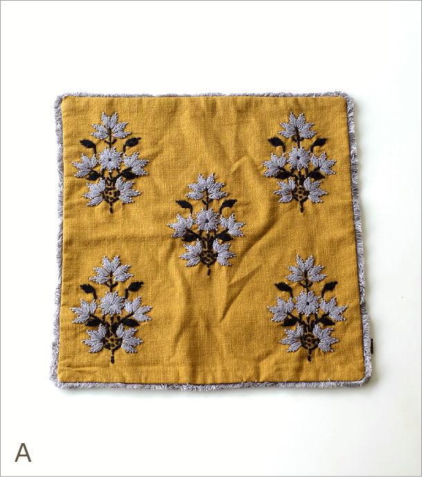 刺繍クッションカバー3タイプ(4)