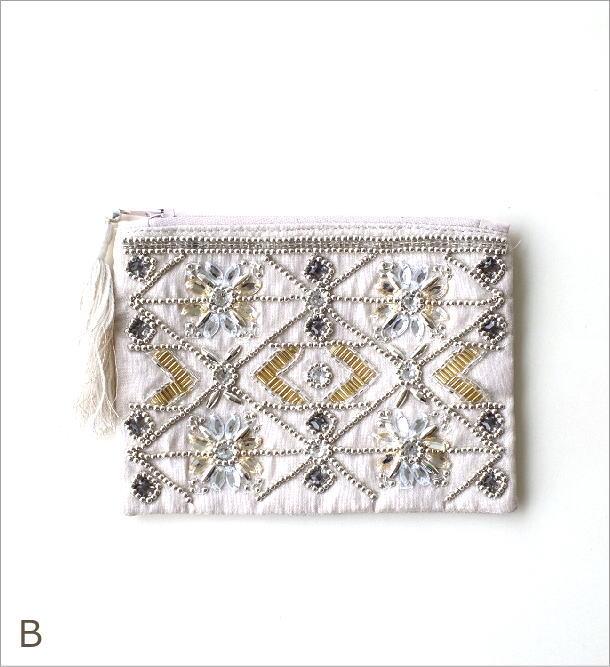 ビーズ刺繍ポーチS 2カラー(4)