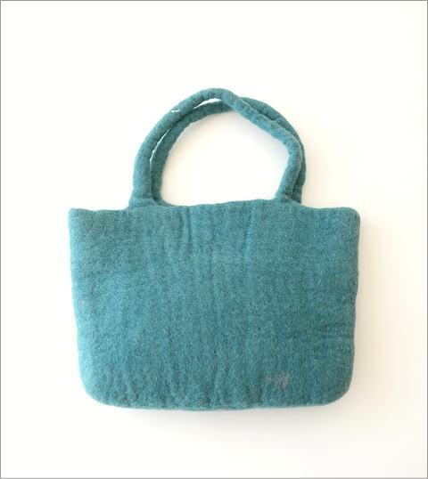 フェルトフラワーパッチ刺繍バッグ(3)