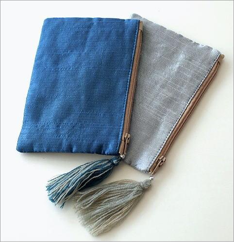 ビーズ刺繍スクエアフラットポーチ 2カラー(4)