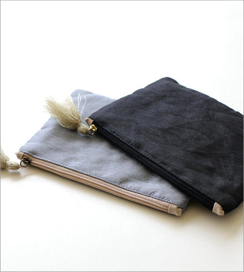 ザリ&刺繍ポーチ 2カラー(3)