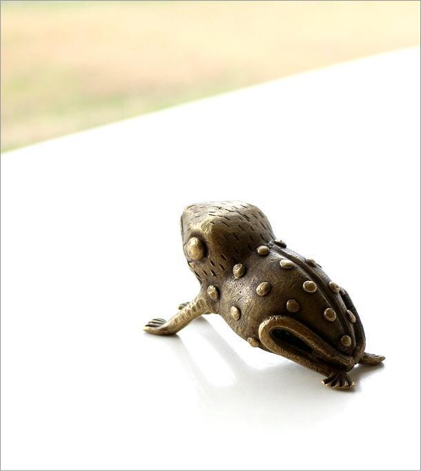 ガーナのブラスカエルのオブジェ(1)