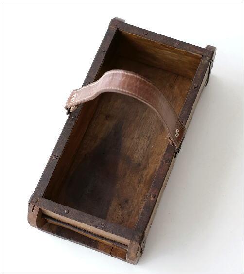 アンテークなレザーハンドルボックス(2)