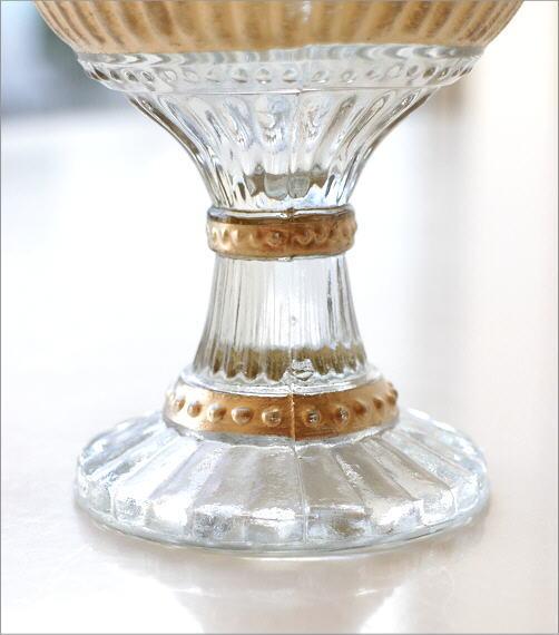 インドの手づくりガラスベース D(3)