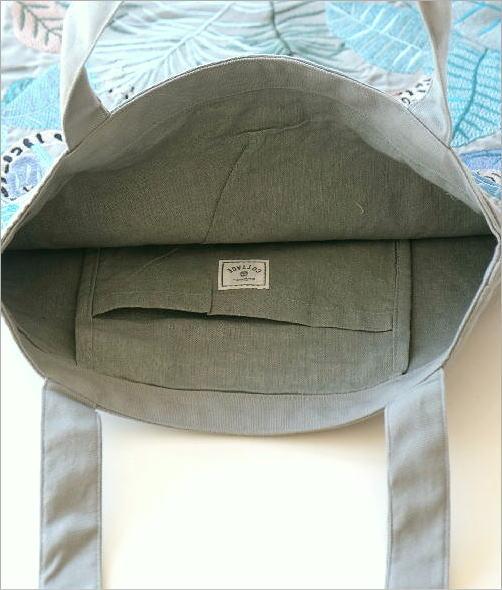 ジャングル刺繍のトートバッグ 2タイプ(3)