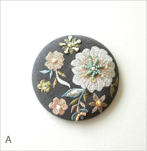 ビーズ刺繍ミニミラー 3カラー(3)