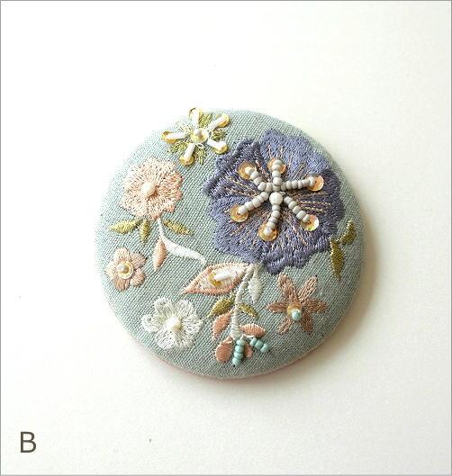 ビーズ刺繍ミニミラー 3カラー(4)