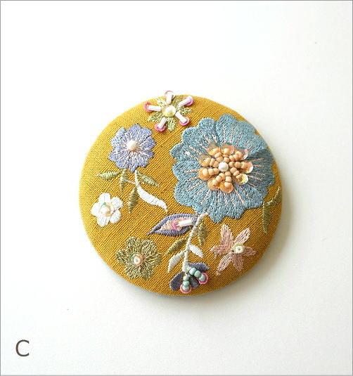 ビーズ刺繍ミニミラー 3カラー(5)