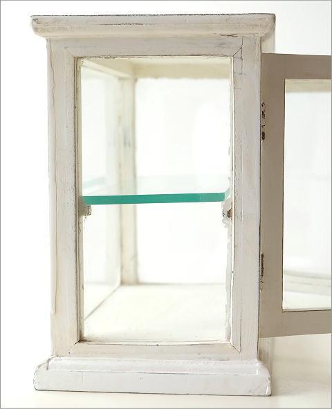 マンゴーウッドのガラスケース ホワイト(3)