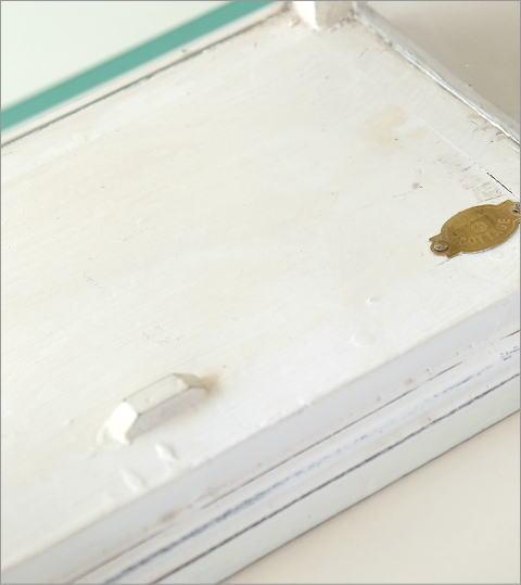 マンゴーウッドのガラスケース ホワイト(5)