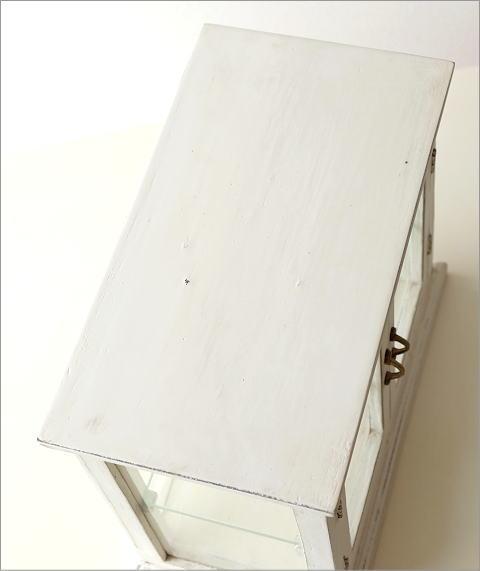 マンゴーウッドのガラスケース ホワイト(6)