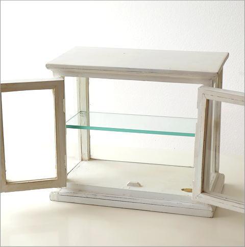 マンゴーウッドのガラスケース ホワイト(7)