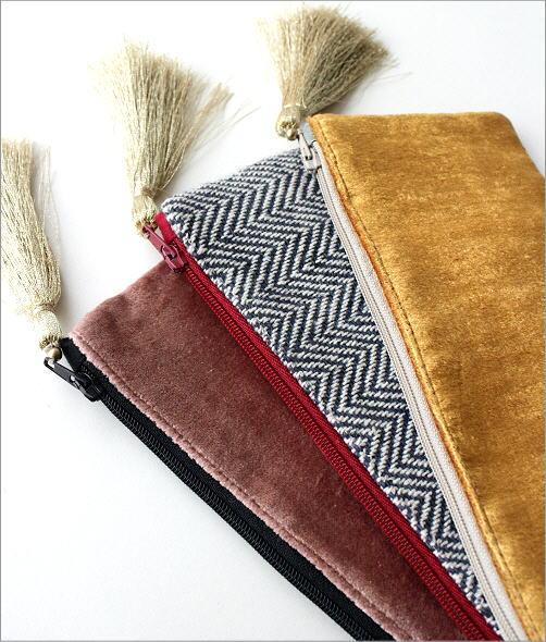 ビーズ刺繍横長ポーチ 3タイプ(3)