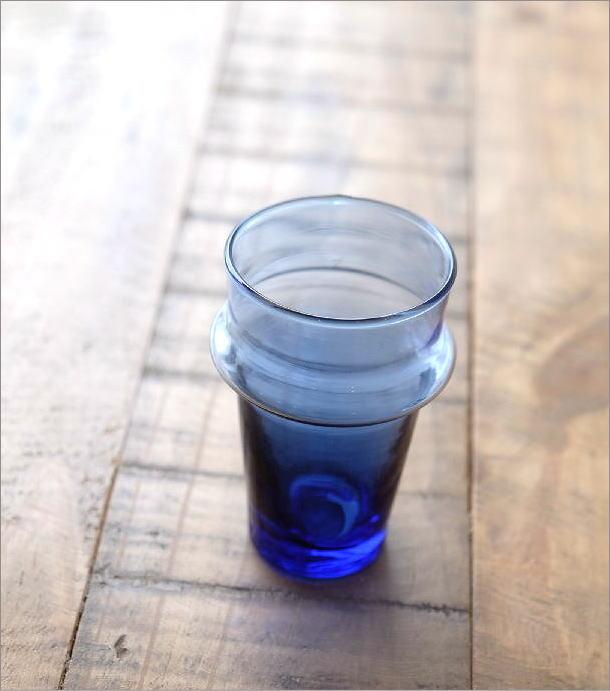 モロッコチャイグラス Sブルー(1)