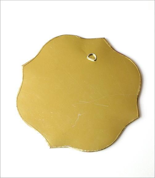 真鍮の壁掛けミラー ウェーブ(4)