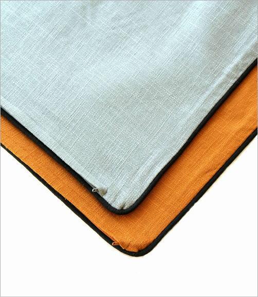 ジャングル刺繍のクッションカバー 2タイプ(4)