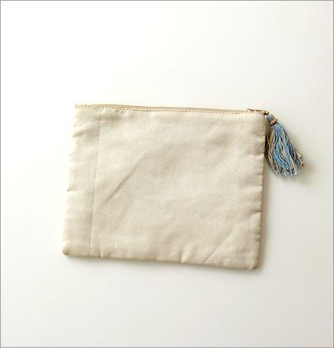 ビーズ刺繍フラットポーチ 3タイプ(3)
