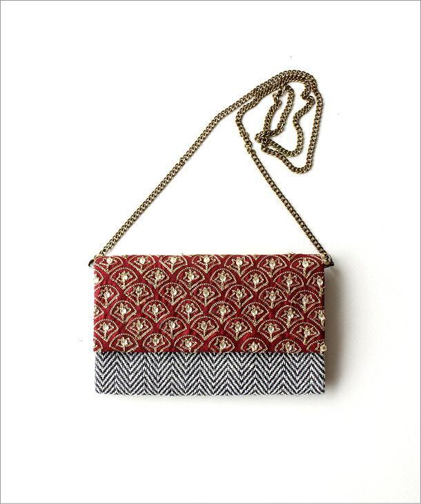 ビーズ刺繍クラッチバッグ 3タイプ(2)