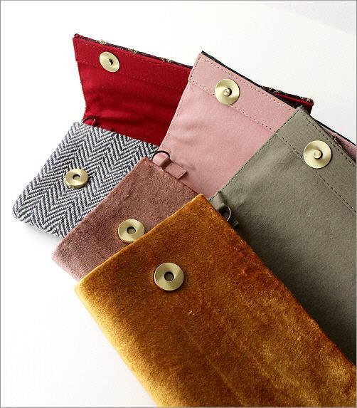ビーズ刺繍クラッチバッグ 3タイプ(4)