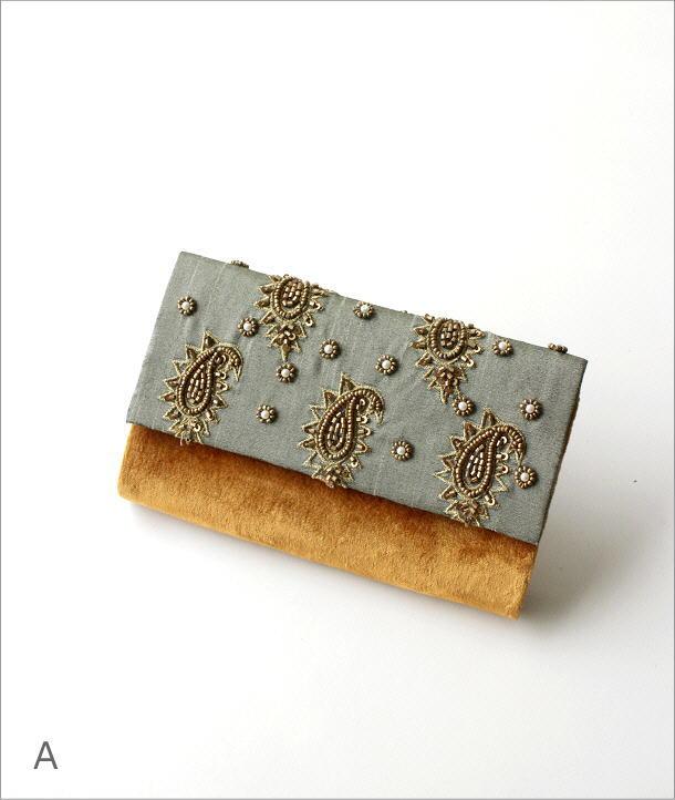 ビーズ刺繍クラッチバッグ 3タイプ(6)