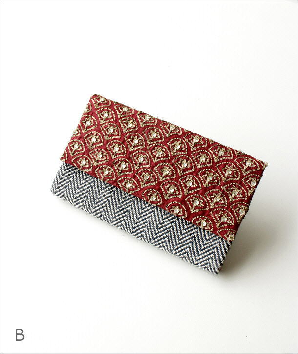ビーズ刺繍クラッチバッグ 3タイプ(7)