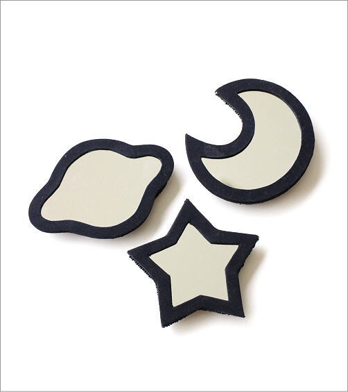 ビーズ刺繍ハンドミラー 宇宙3タイプ(3)