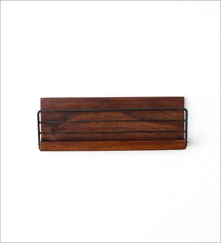 アイアンとウッドの壁掛けラック M(2)