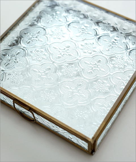 スクエアガラスケース エンボス(2)