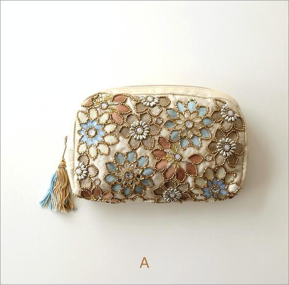 ビーズ刺繍ポーチ 3タイプ(4)