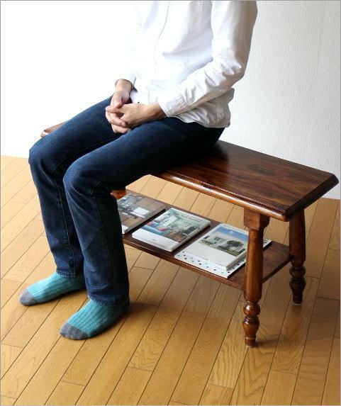シーシャム棚付きベンチ(2)