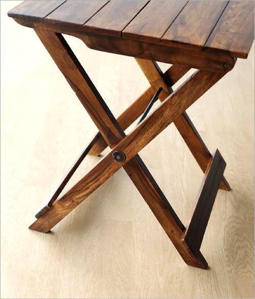 ウッド折り畳みテーブル(4)