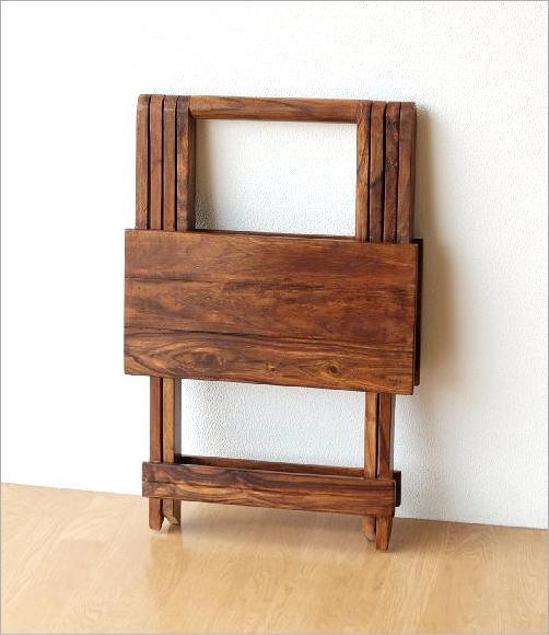 ウッド折り畳みテーブル(6)