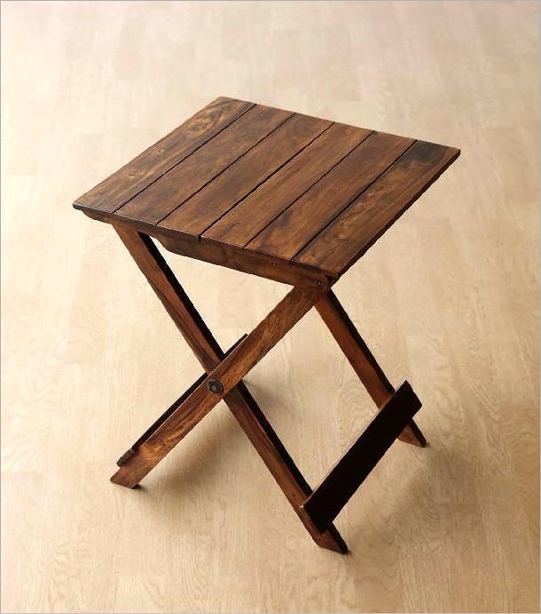 ウッド折り畳みテーブル(7)