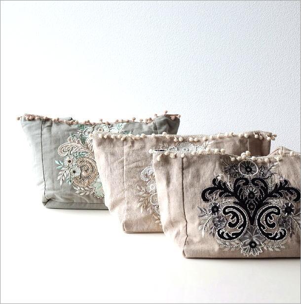 ビーズ刺繍バッグ 3カラー(1)